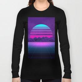 Future Sunset Vaporwave Aesthetic Long Sleeve T-shirt
