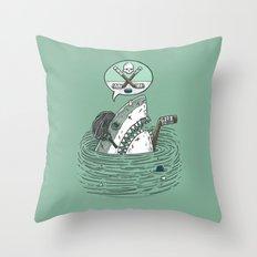The Enforcer Shark Throw Pillow