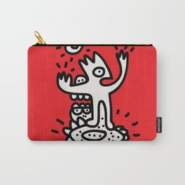 Listen to mo Street Art Black and White and Red Carry-All Pouch