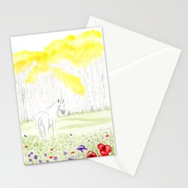 Into the Golden Wood with a Unicorn Stationery Cards