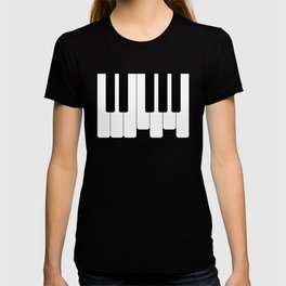 Piano keys. Playing Piano #society6 #decor #buyart #artprint T-shirt