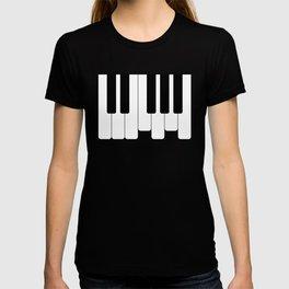 Piano keys. Playing Piano #society6 #decor #buyart #artprint T-shirt