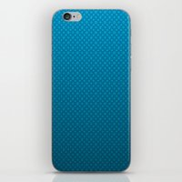 lv iPhone & iPod Skins featuring LV Blue Pattern by Veylow