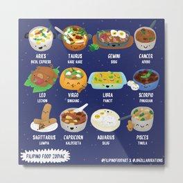 Filipino Food Zodiac Metal Print
