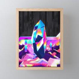 retro crystal Framed Mini Art Print