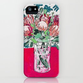 Bouquet of Proteas with Matisse Cutout Wallpaper iPhone Case