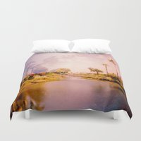 venice Duvet Covers featuring Venice by Elina Cate
