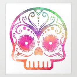 "Custom Design Modern Sugar Skull (""Calavera"") Art Print"