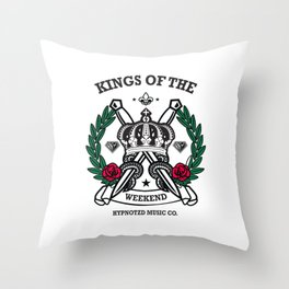 kings of the weekend Throw Pillow