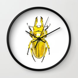 Yellow Japanese Stag Beetle Wall Clock