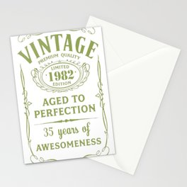 Green-Vintage-Limited-1982-Edition---35th-Birthday-Gift Stationery Cards
