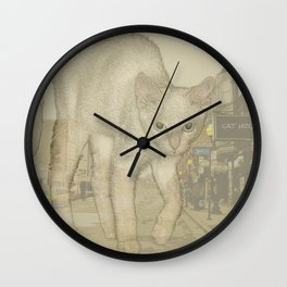 Ghost Kitty Wall Clock