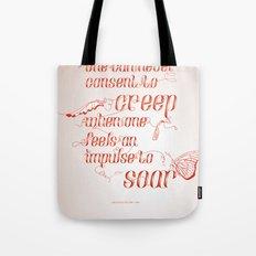 Soar - Illustrated quote of Helen Keller Tote Bag
