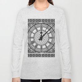 Big Ben, Clock Face, Intricate Vintage Timepiece Watch Long Sleeve T-shirt
