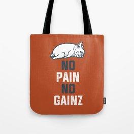 NO PAIN NO GAINZ French Bulldog Tote Bag