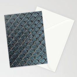 Wire and glass background texture pattern close detail Stationery Cards