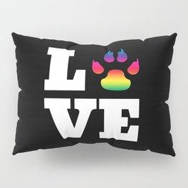 Rainbow paw Pillow Sham