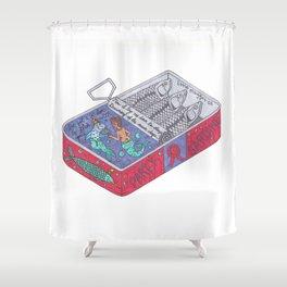 Party Sardine Shower Curtain