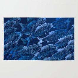 Fishes In Blue Water Illustration #decor #society6 #buyart Rug