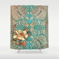 hibiscus Shower Curtains featuring Hibiscus by Kriti