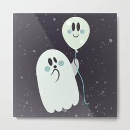 Ghost and Friend Metal Print