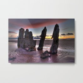North Beach Sunset Metal Print