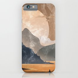 Late afternoon in the mountains iPhone Case