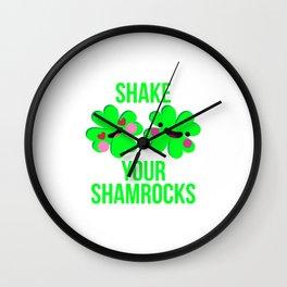 Shake Your Shamrocks St. Patrick's Day Parade Wall Clock