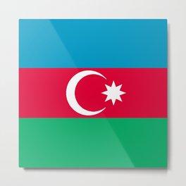 Azerbaijan Flag Metal Print