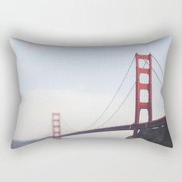 Golden Gate at dusk Rectangular Pillow