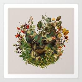 Camo Chihuahua Forest Adventure Art Print