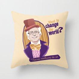 Change the World Throw Pillow