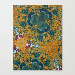 Orange and Green Flora Canvas Print