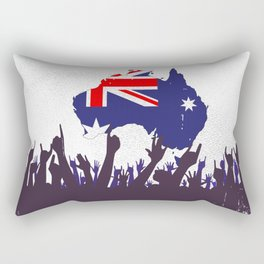 Australian Map And Flag with Audience Rectangular Pillow