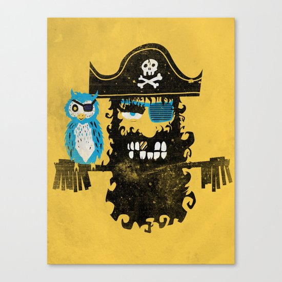 Trendy Pirate  Canvas Print