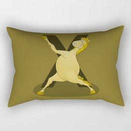 Monogram X Pony Rectangular Pillow