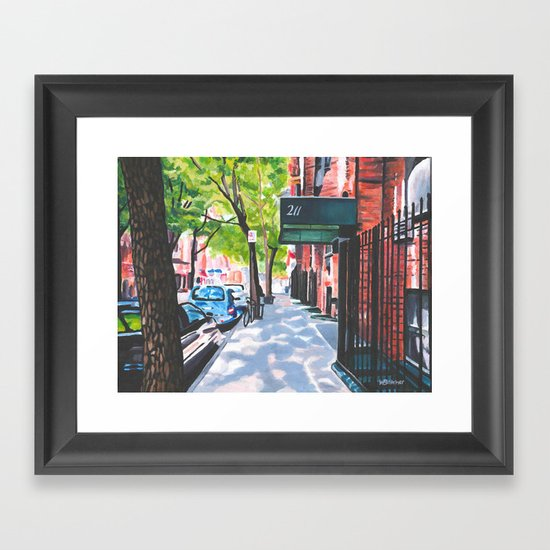 Sunday Morning in Brooklyn, NY Framed Art Print