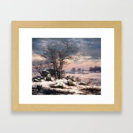 Johan Christian Dahl Winter Landscape Vordingborg Framed Art Print