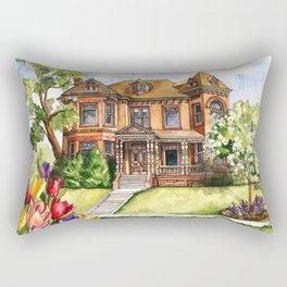 Queen Anne Mansion Rectangular Pillow