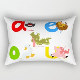 Vowels (spanish) Rectangular Pillow