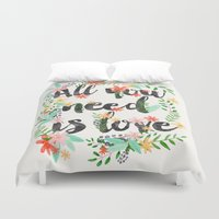 all you need is love Duvet Covers featuring ALL YOU NEED IS LOVE by Mia Charro
