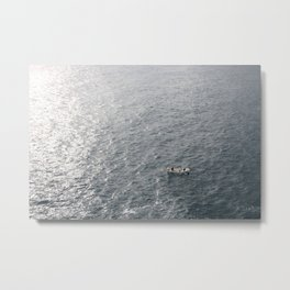 Boat and Sea view from 5 Terre Metal Print