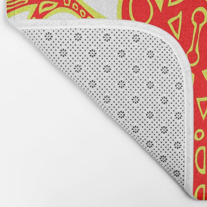 Tribal Lizard Design #1 Bath Mat