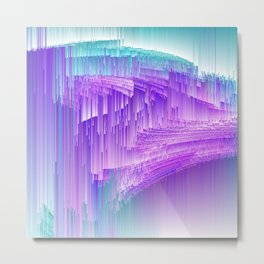 Flame - Pixel sort purple Metal Print