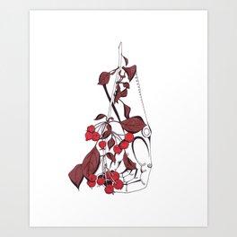 Bleeding cherry Art Print
