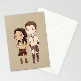 Chibi Nagron (Agron & Nasir, Spartacus) Stationery Cards