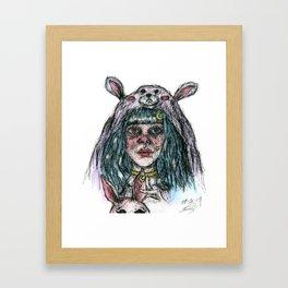 Morgan The Bunny Framed Art Print