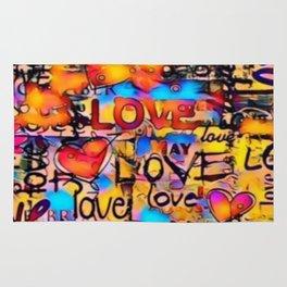Graffiti Love Rug