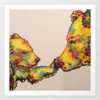 Mom&Cub Art Print