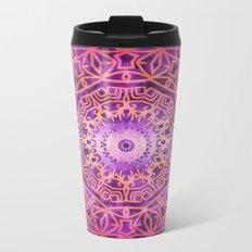 Mandala Pink Night Metal Travel Mug